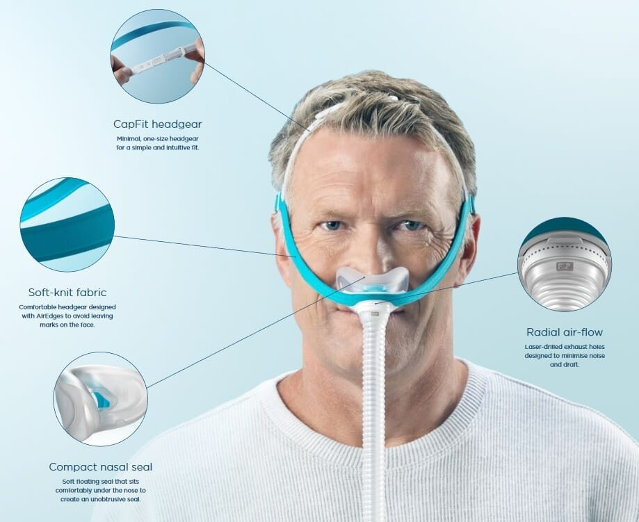 Fisher & Paykel Evora CPAP Nasal Mask with Headgear