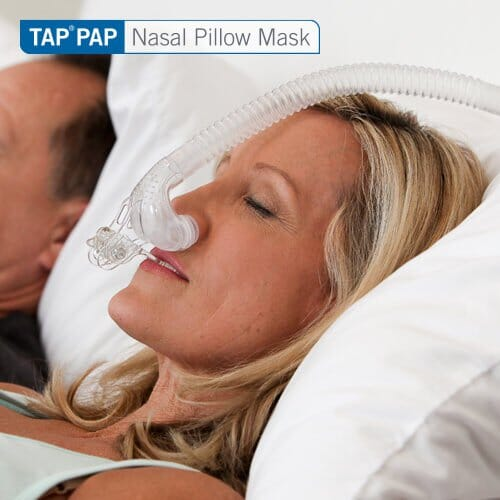 Tap Pap Nasal Pillow Cpap Mask With Improved Stability Mouthpiece